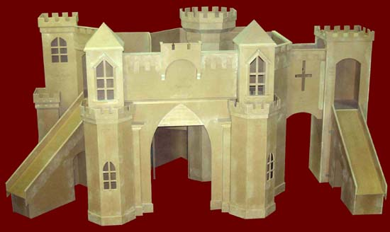 Indoor castle playhouse plans pdf woodworking for Castle bed plans pdf