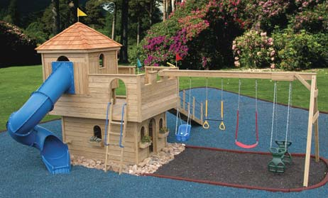 free playhouse with swingset plans | just b.CAUSE