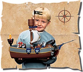 how to make a pirate ship that floats