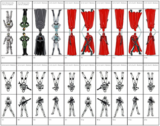 photo relating to Printable Paper Miniatures known as Zen Star Wars Paper Miniatures