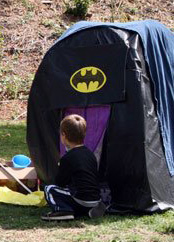 If you have a tent large or small these can be turned into a batcave. & Zen Kid Superhero Party - Batcave Page