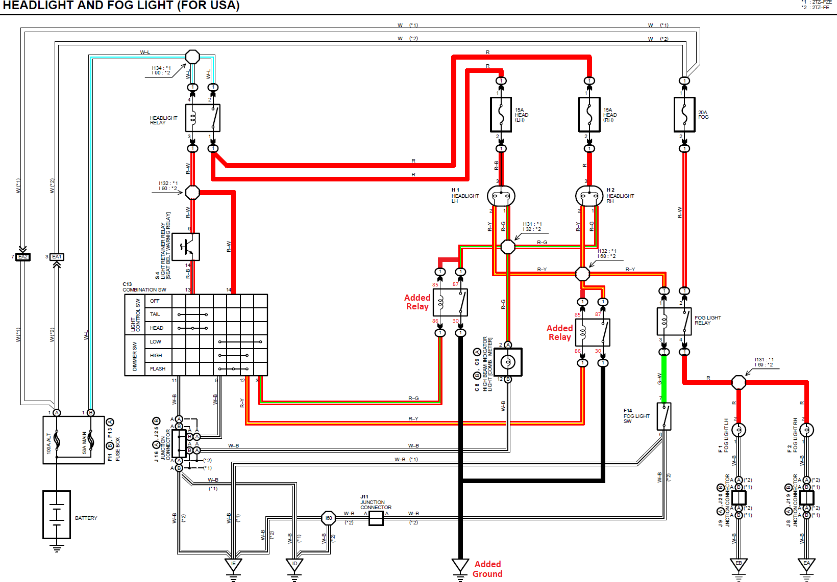 91 Previa Headlight Circuit Diagram - wiring diagram on the net on